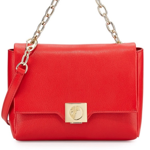 "Versace Handbags - Versace ""Versace Collection"" Red Leather Bag"